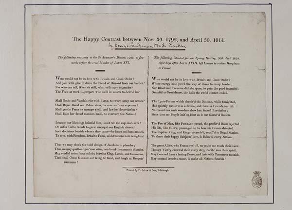 (49) Happy contrast between Nov 30 1792, and April 30 1814