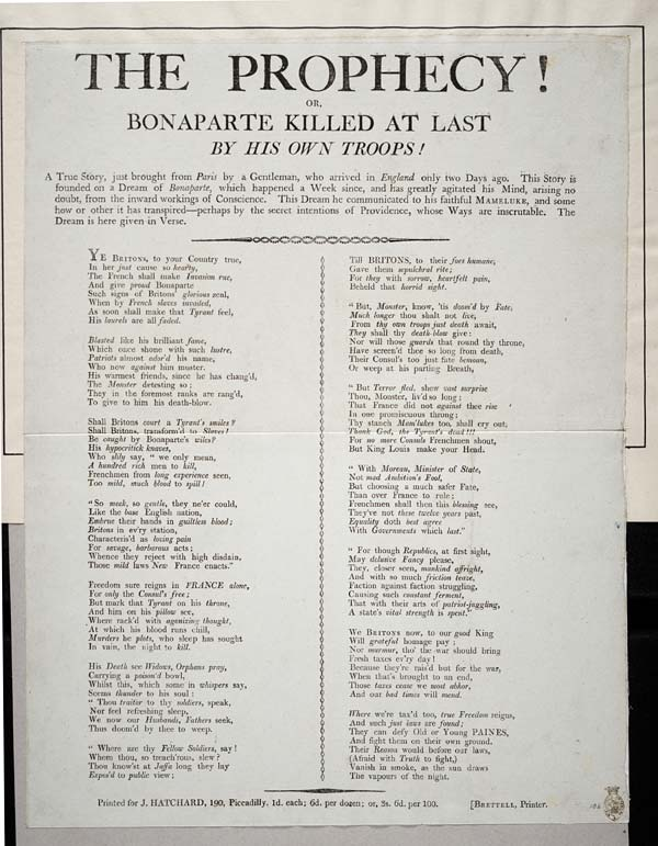 (50) Prophecy! Or, Bonaparte killed at last by his own troops
