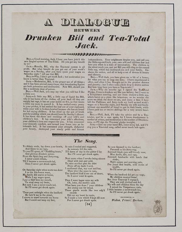 (44) Dialogue between drunken Bill and tea-total Jack