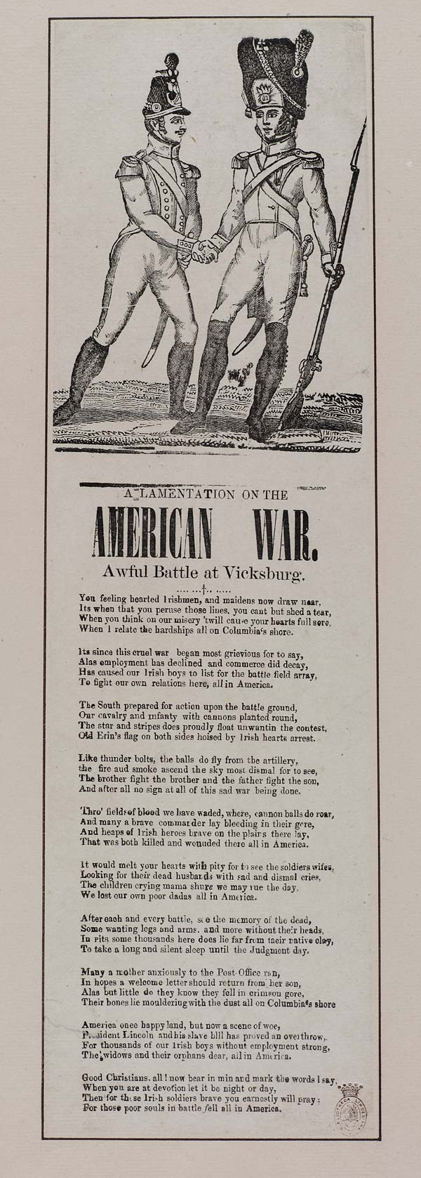 (23) Lamentation on the American war