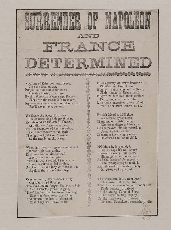 (26) Surrender of Napoleon and France determined