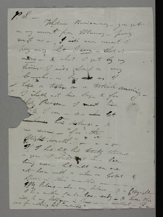 Letter of Lord Byron to John Cam Hobhouse and Douglas Kinnaird, 19 January 1819 - Ms.43439