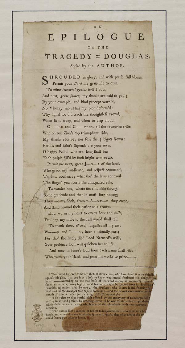 (33) Epilogue to the Tragedy of Douglas