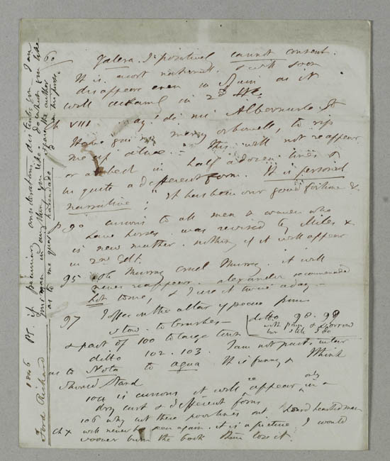 Letter of Richard Ford to John Murray 1846 - MS.42226