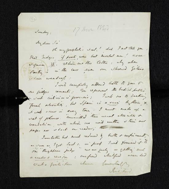 Letter of Richard Ford to John Murray, 17 December 1843 - MS.42224