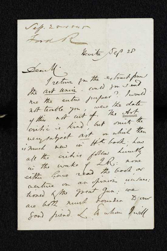 Letter of Richard Ford to John Murray, 28 September 1845 - MS.42225