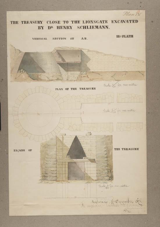 Plans of excavations made by Dr. Heinrich Schliemann c.1876 - Acc.12973/14