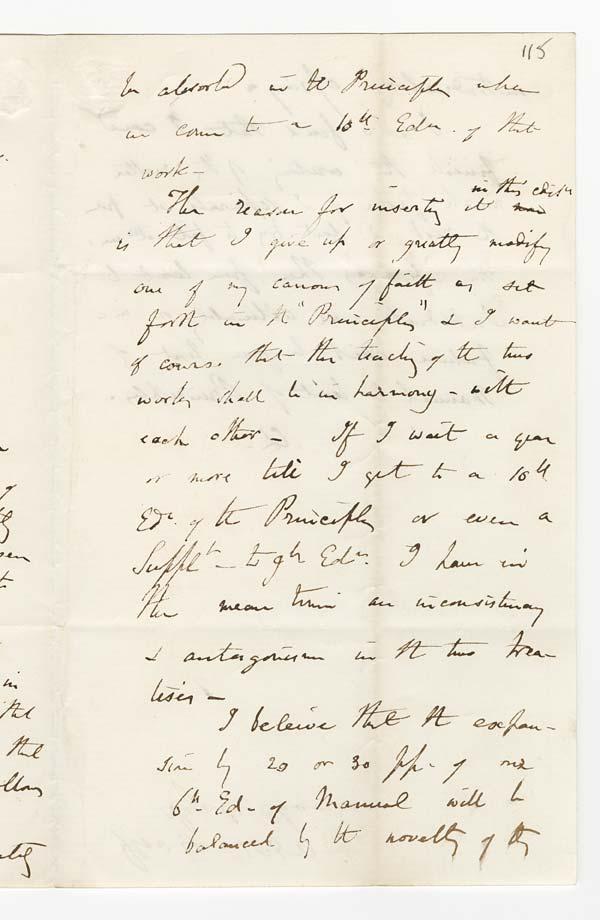 Letter of Sir Charles Lyell to John Murray, 4 November 1859 - Ms.40728 ff.113-114