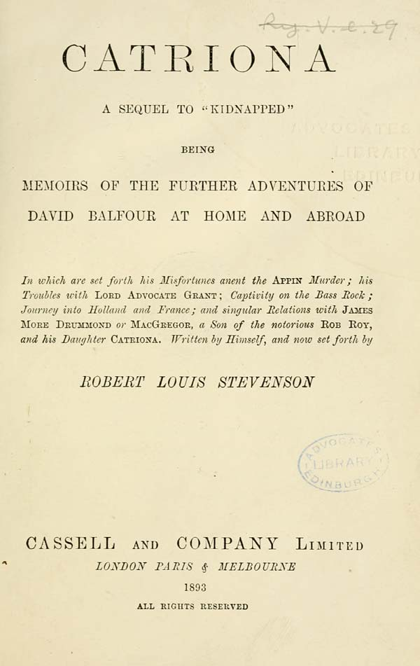 (13) Title page -