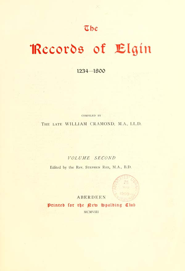 (9) Title page -