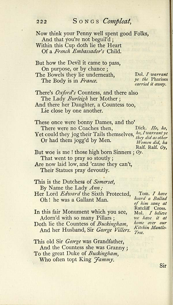 234) Page 222 - Glen Collection of printed music > Printed