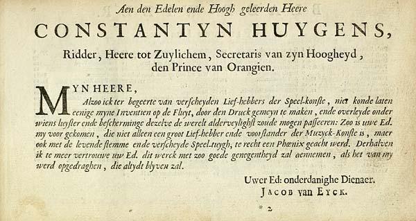 (3) [Page ii] - Aen den Edelen ende Hoogh geleerden Heere Constantyn Huygens