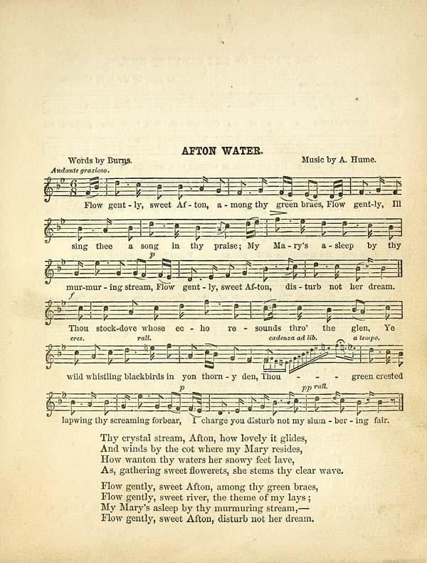 sweet afton lyrics