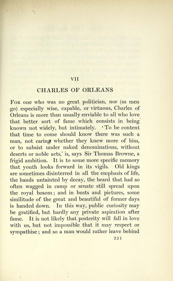(237) Page 221 - VII. Charles of Orleans