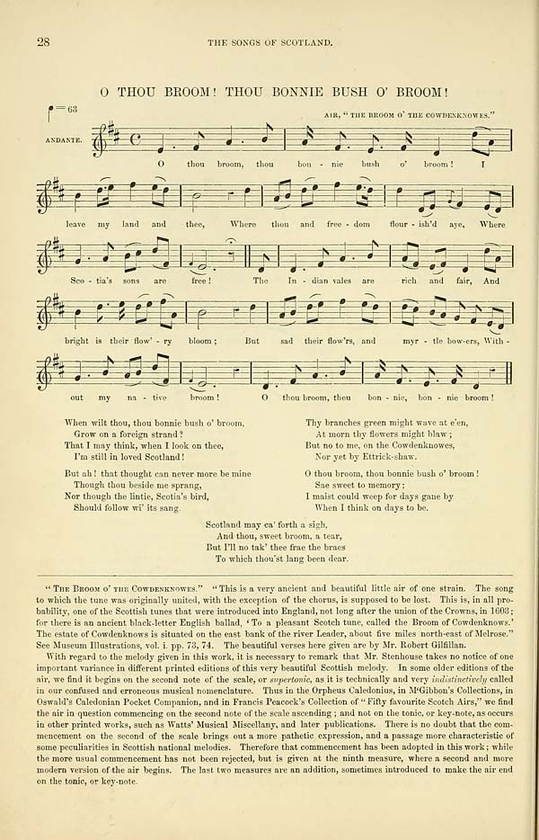 (52) Page 28 - O thou broom! Thou bonnie bush o' broom