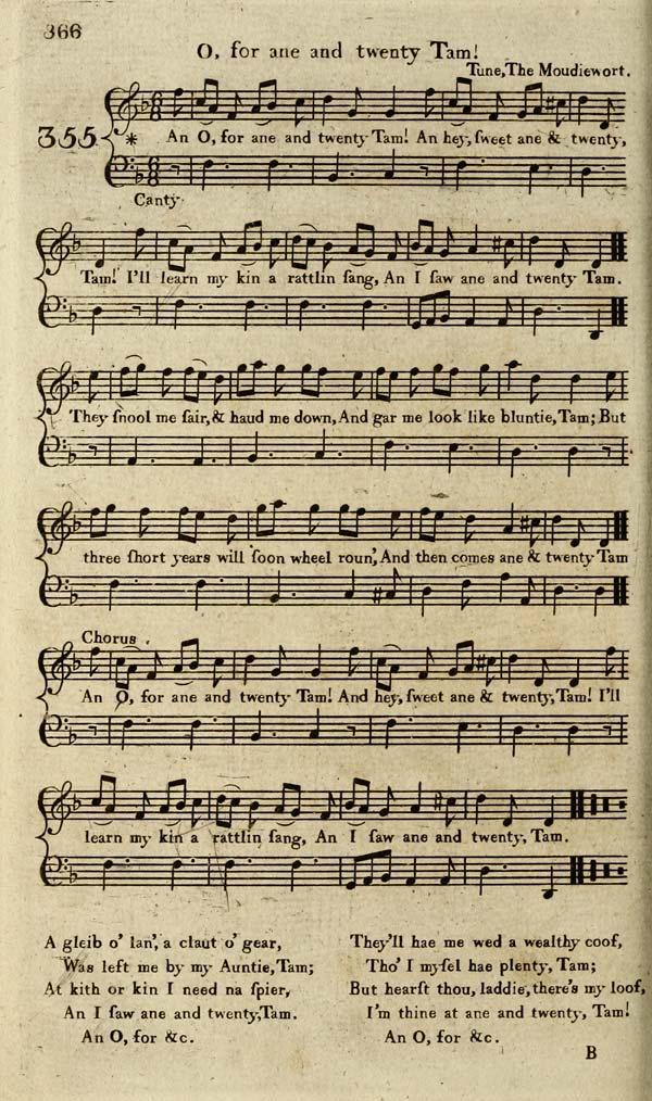 (180) Page 366 - O, for ane and twenty Tam
