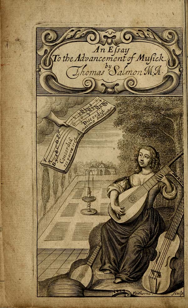 (12) Frontispiece - Essay to the advancement of musick