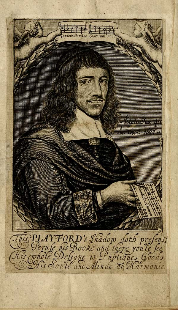 (6) Frontispiece - This, Playford's shadow doth present