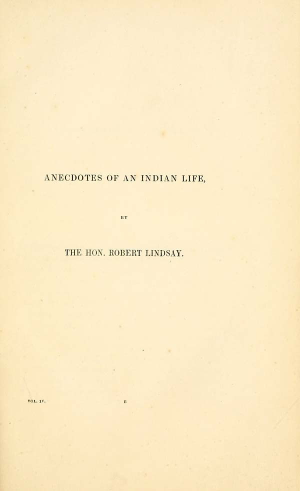 (11) [Page 1] - Anecdotes of an Indian life