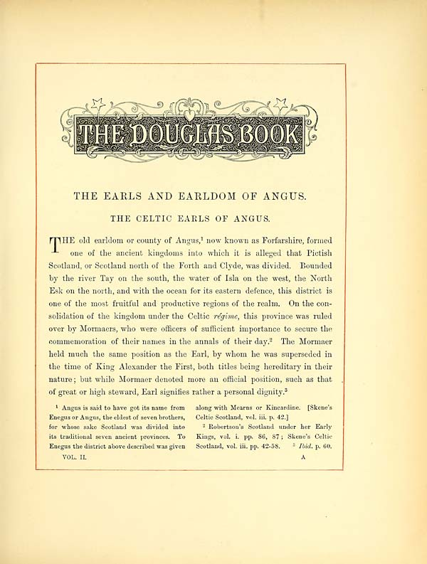 (25) [Page 1] - Memoirs of the Earls of Angus --- Celtic Earls of Angus