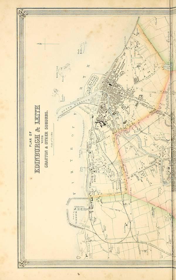 Leith Scotland Map.634 Top Half Of Map Plan Of Edinburgh And Leith With Granton