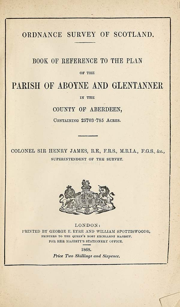 (307) 1868 - Aboyne and Glentanner, County of Aberdeen