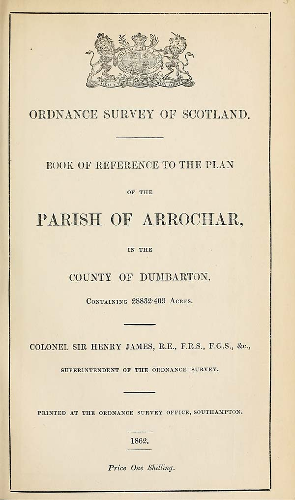 (75) 1862 - Arrochar, County of Dumbarton