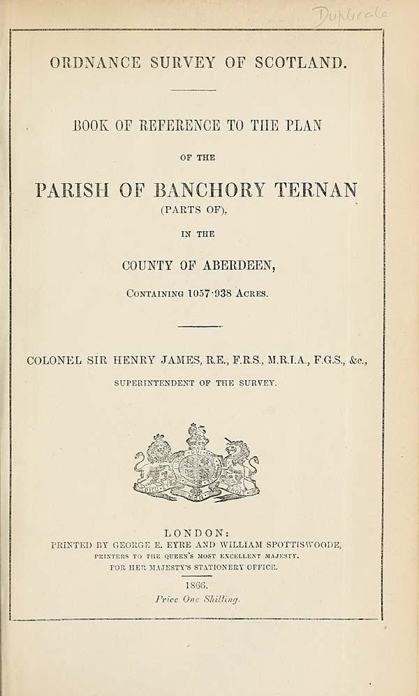 (521) 1866 - Banchory Ternan (parts of), County of Aberdeen