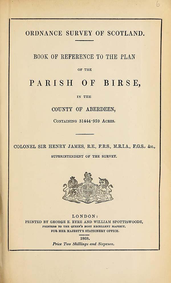(113) 1868 - Birse, County of Aberdeen