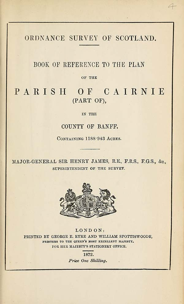 (71) 1872 - Cairnie (part of), County of Banff