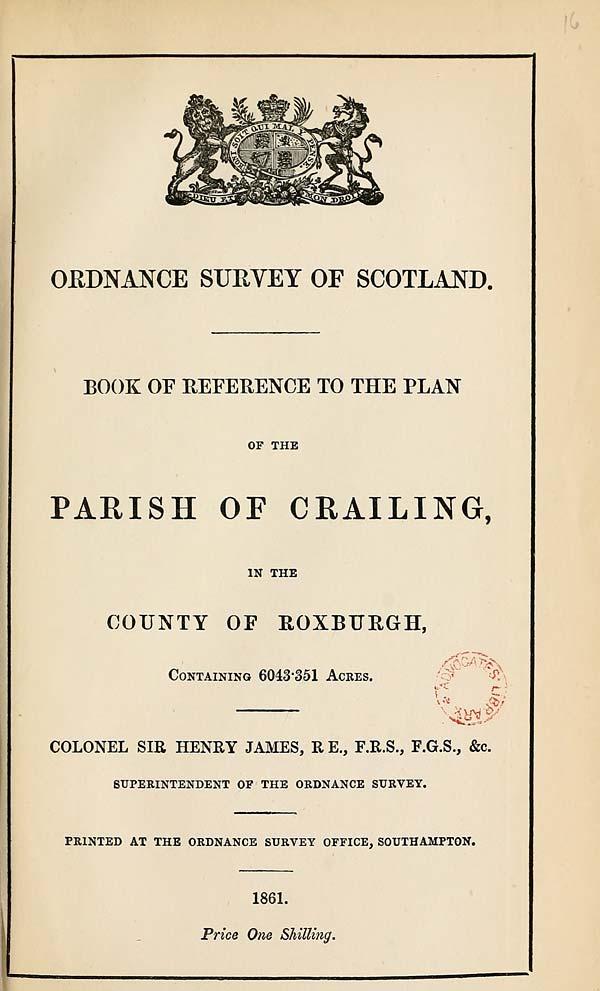 (347) 1861 - Crailing, County of Roxburgh
