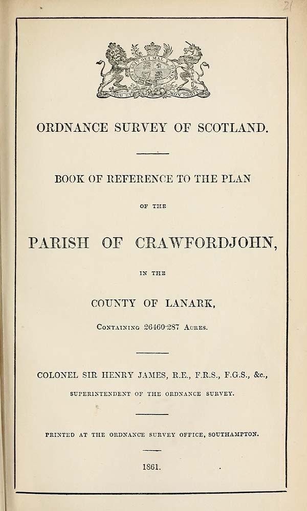 (467) 1861 - Crawfordjohn, Lanark