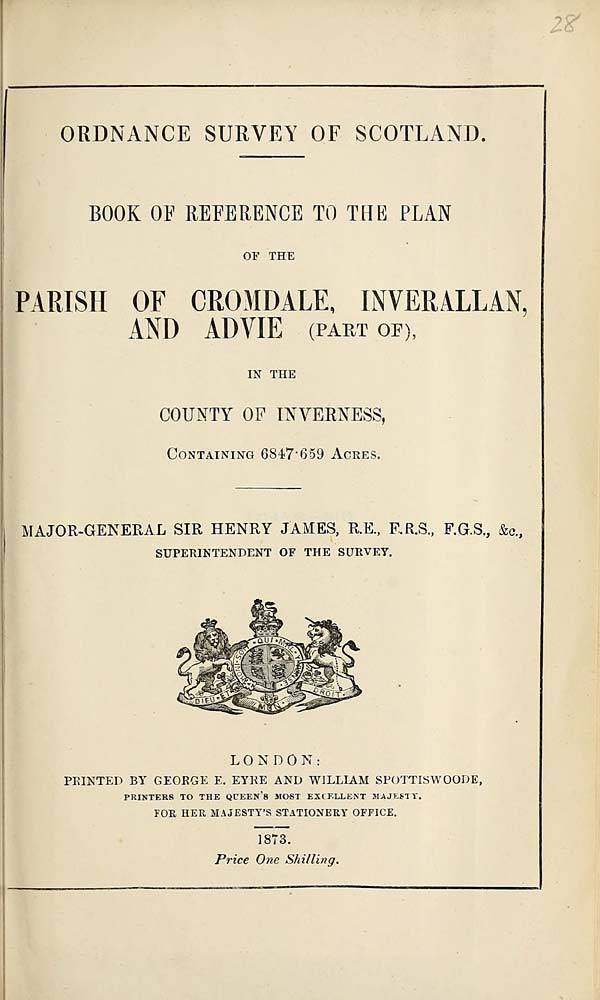 (633) 1873 - Cromdale, Inverallan, and Advie, County of Inverness