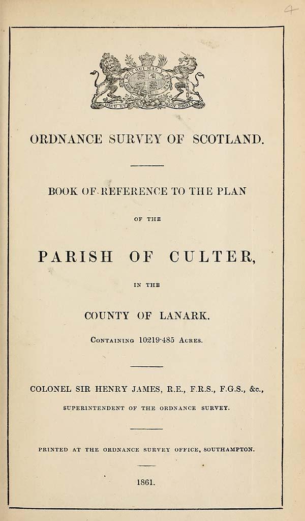 (79) 1861 - Culter, County of Lanark