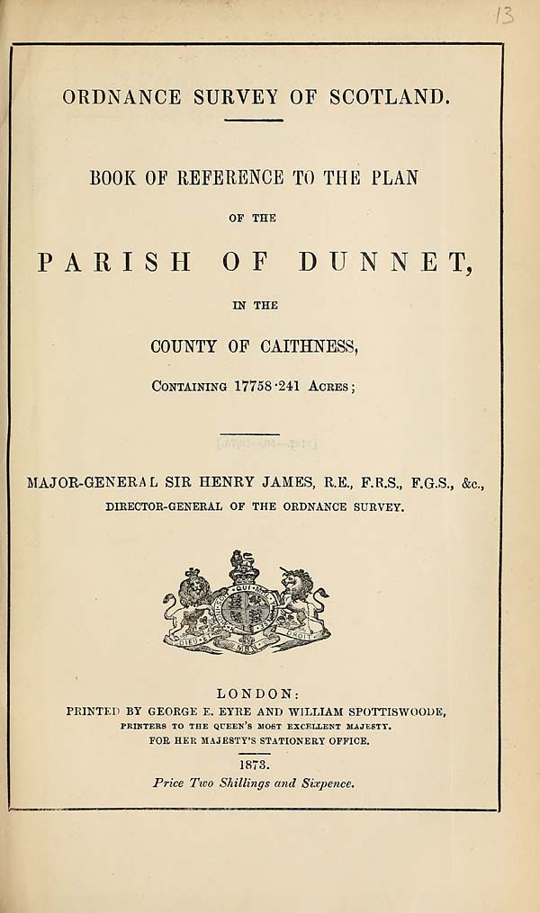 (335) 1873 - Dunnet, County of Caithness
