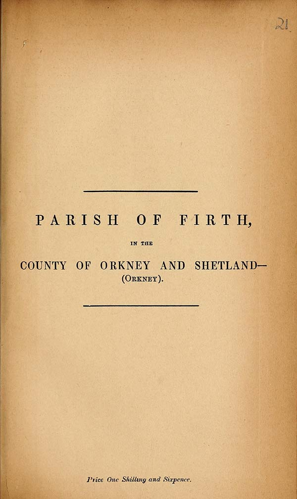 (531) 1881 - Firth, County of Orkney and Shetland (Orkney)