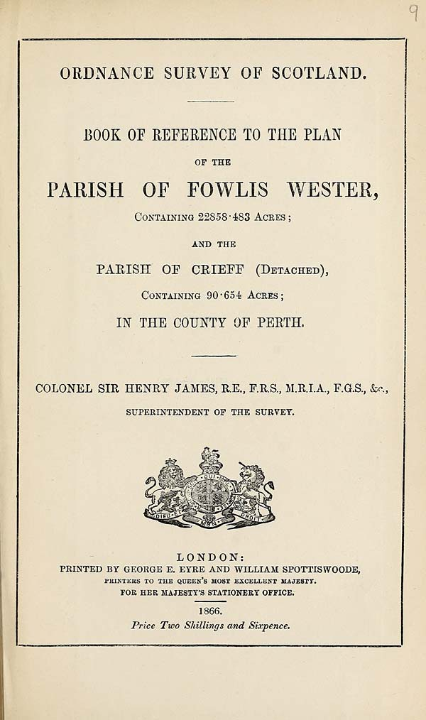 (235) 1896 - Fowlis Wester and Crieff (detached), County of Perth