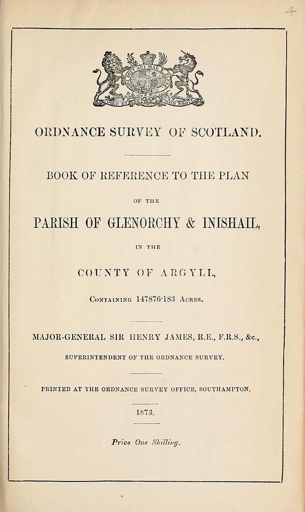 (63) 1873 - Glenorchy & Inshail, County of Argyll
