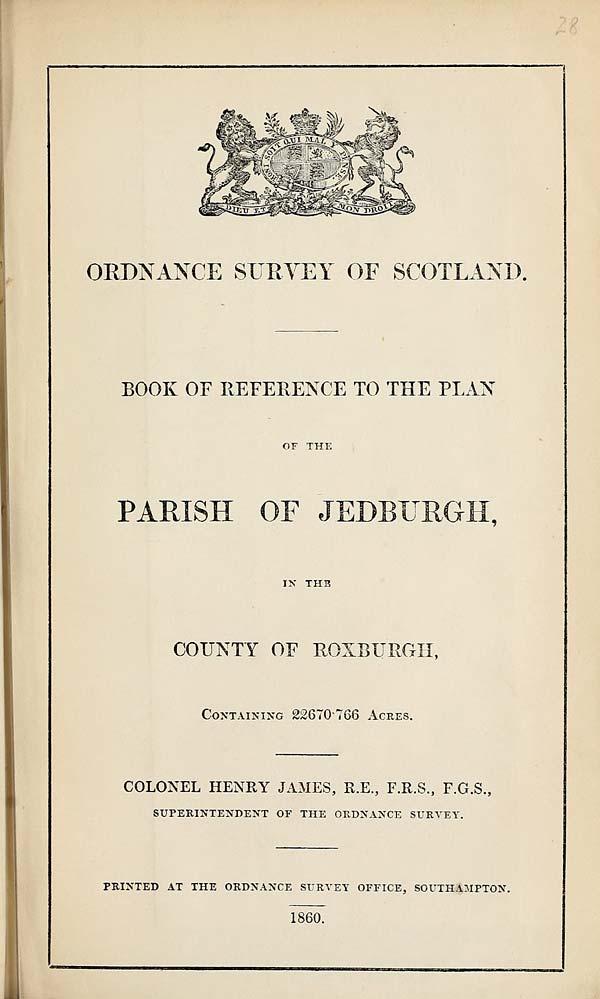 (640) 1860 - Jedburgh, County of Roxburgh