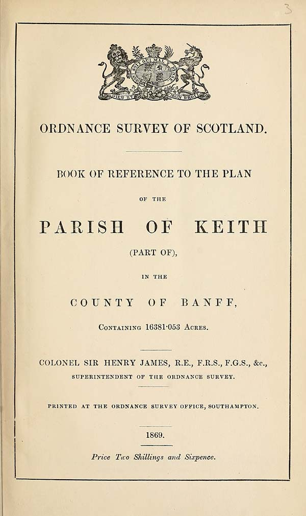 (41) 1869 - Keith (Part of), County of Banff