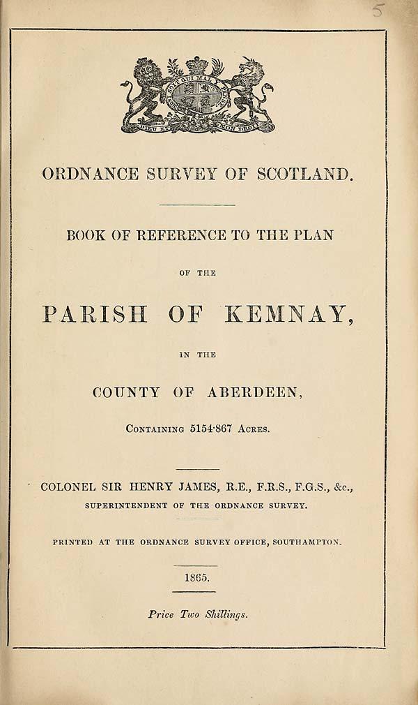 (97) 1865 - Kemnay, County of Aberdeen