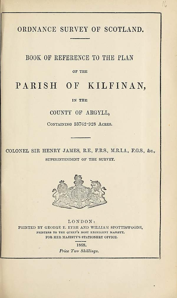 (373) 1868 - Kilfinan, County of Argyll