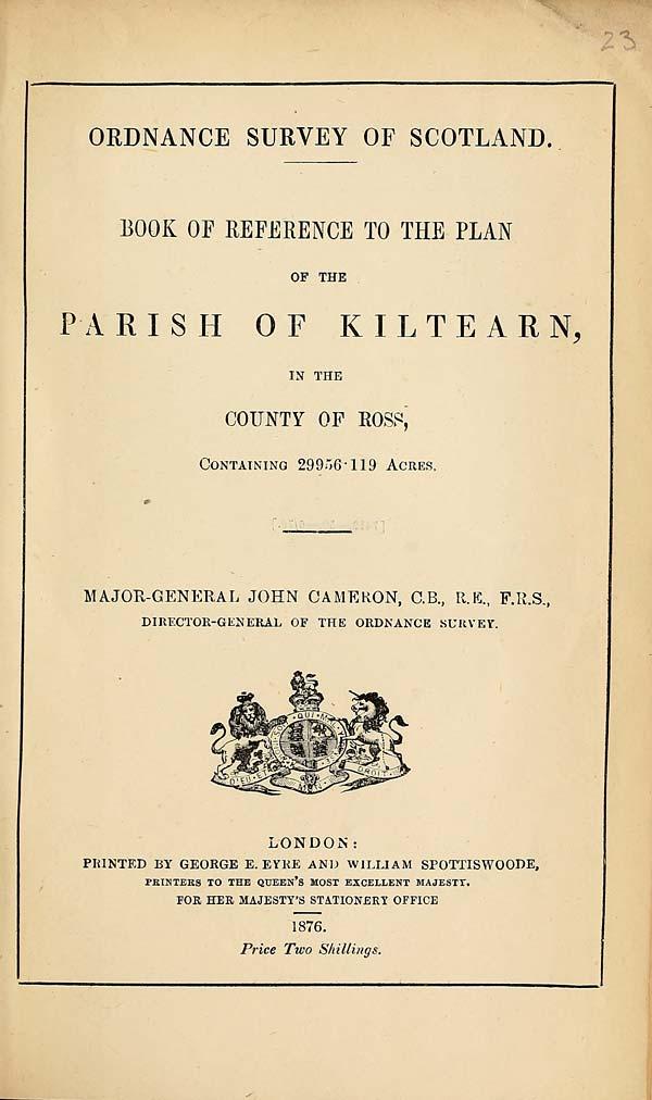 (553) 1876 - Kiltearn, County of Ross