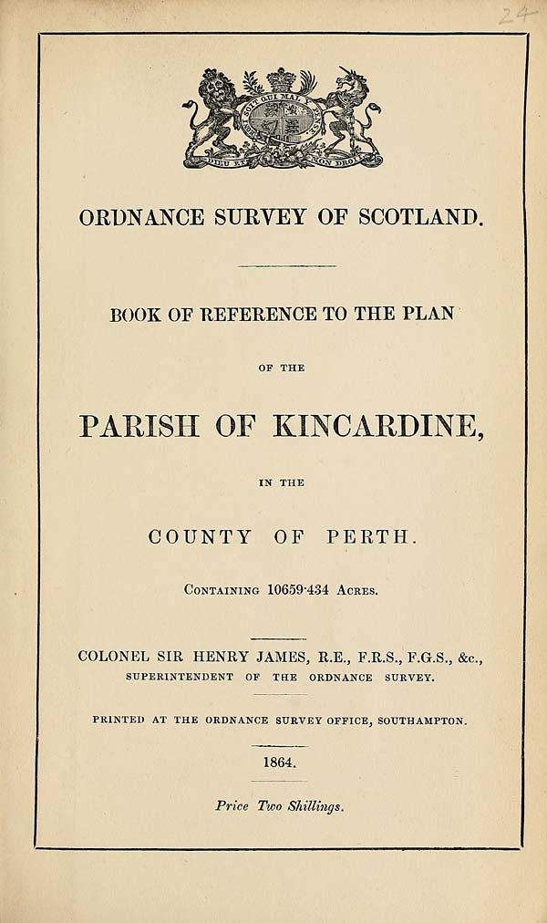 (577) 1864 - Kincardine, County of Perth