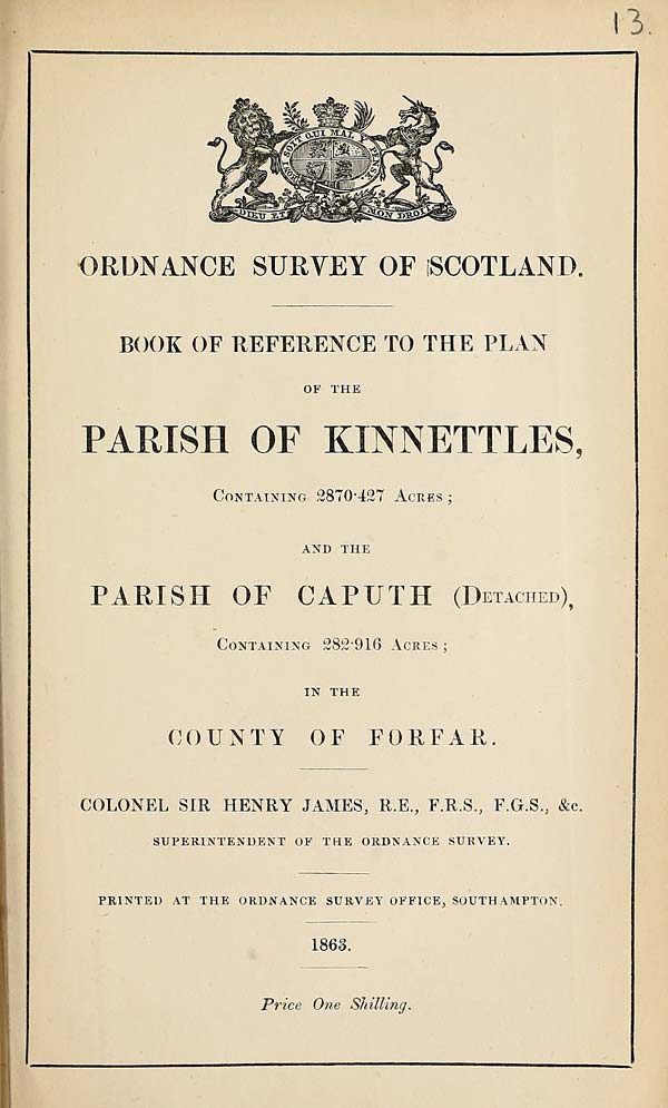 (253) 1863 - Kinnettles and Caputh, County of Forfar