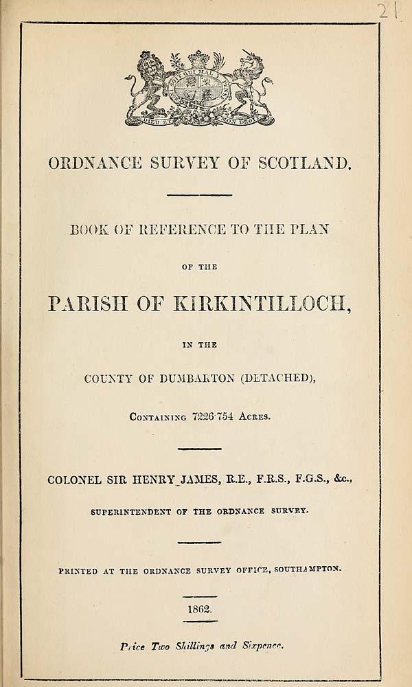 (435) 1862 - Kirkintilloch, County of Dumbarton (Detached)