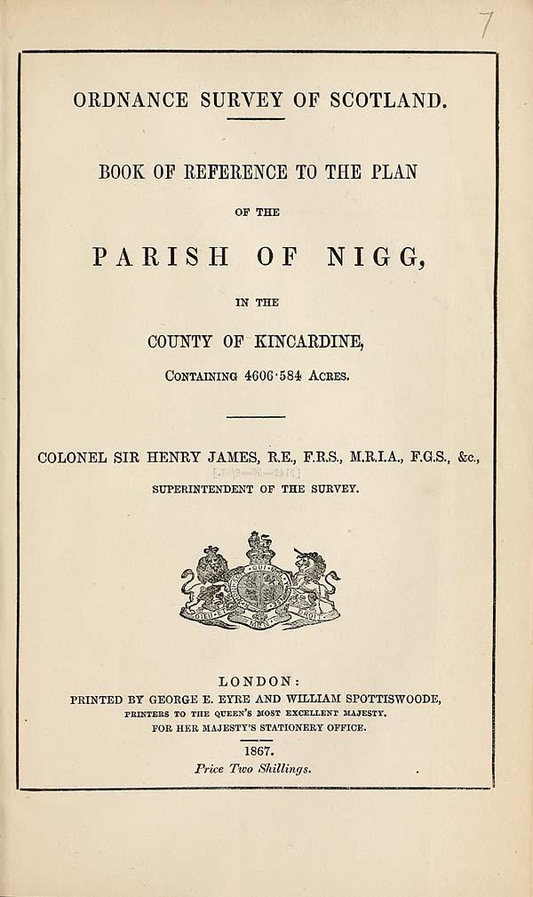 (171) 1867 - Nigg, County of Kincardine