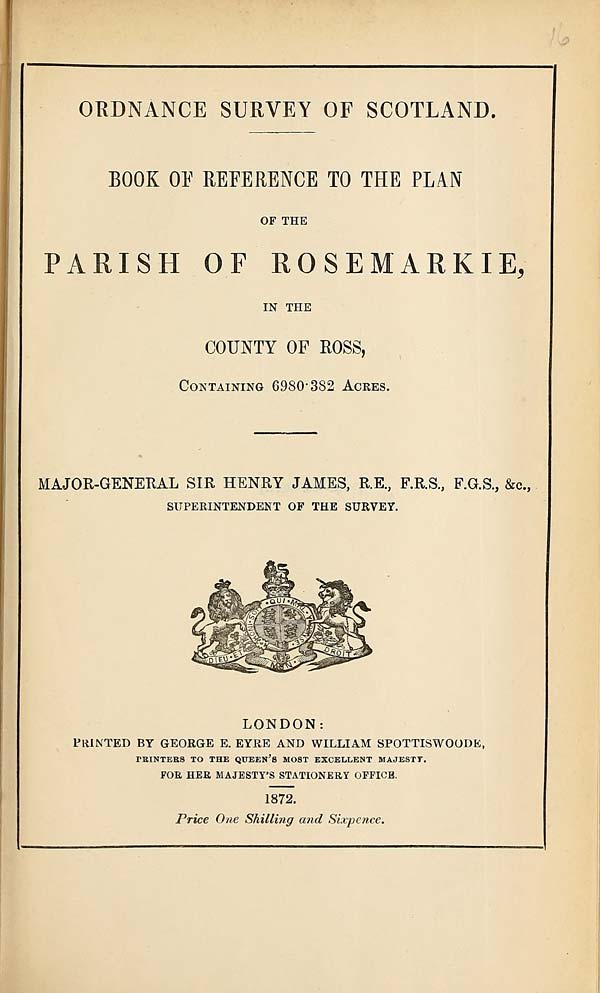 (349) 1872 - Rosemarkie, County of Ross