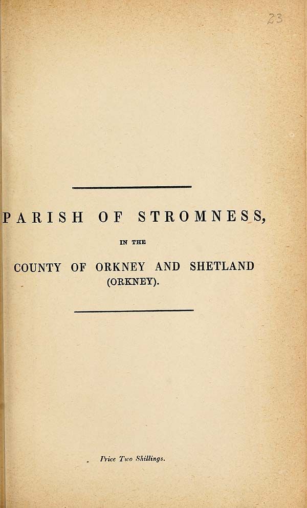 (487) 1882 - Stromness, County of Orkney and Shetland (Orkney)