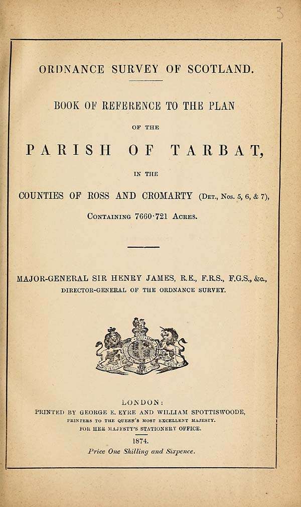 (67) 1874 - Tarbat, Counties of Ross and Cromarty